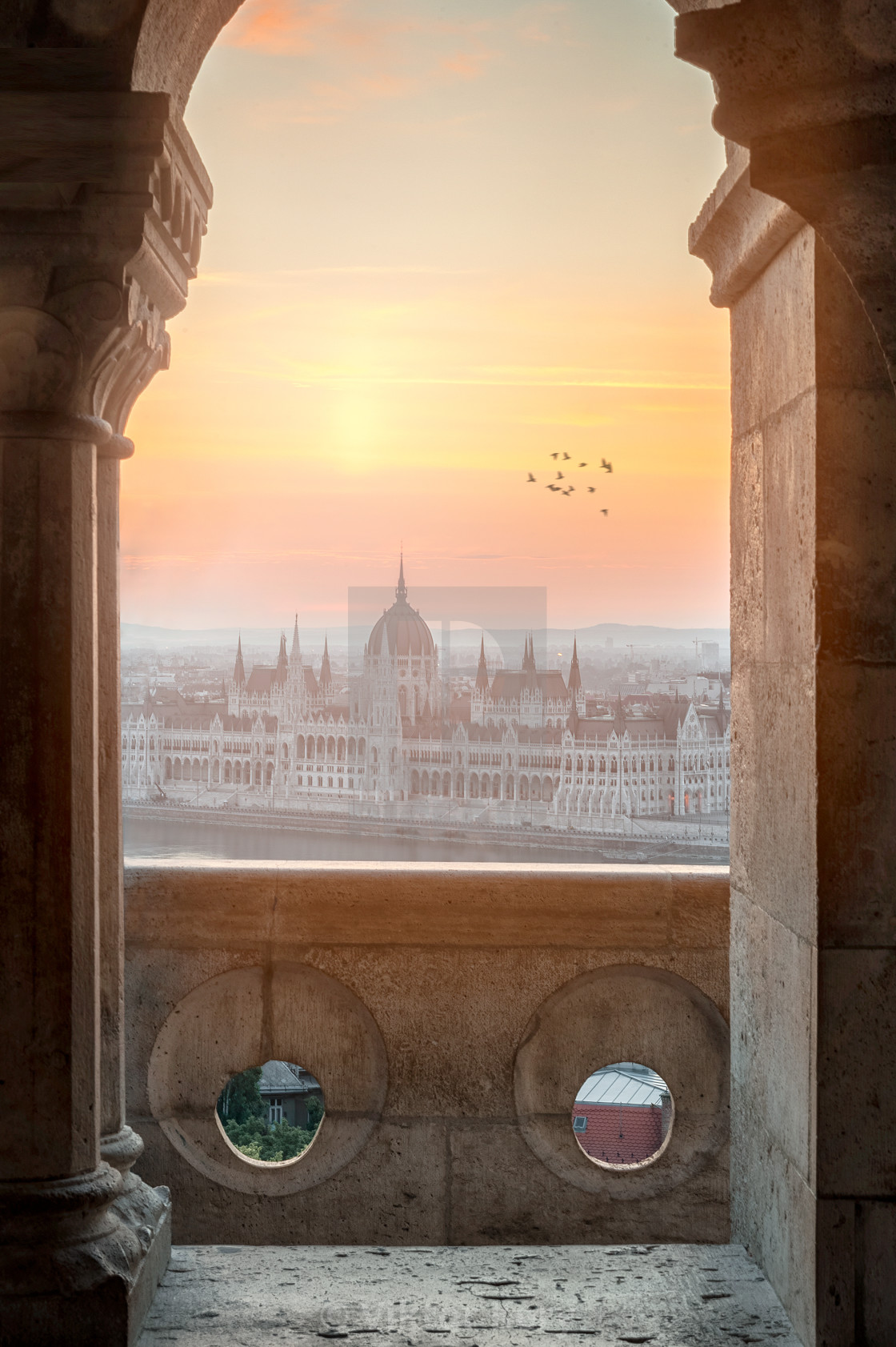 """""""Sunrise in Budapest"""" stock image"""