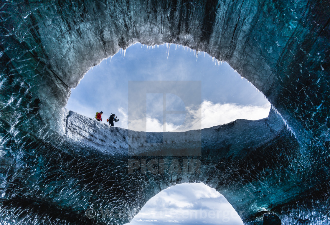 """""""Icecave in Iceland"""" stock image"""