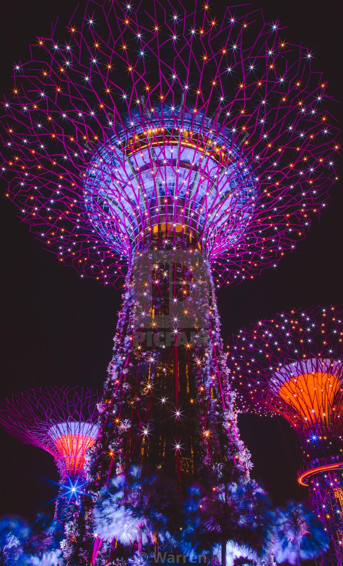 """Singapore Supertree"" stock image"