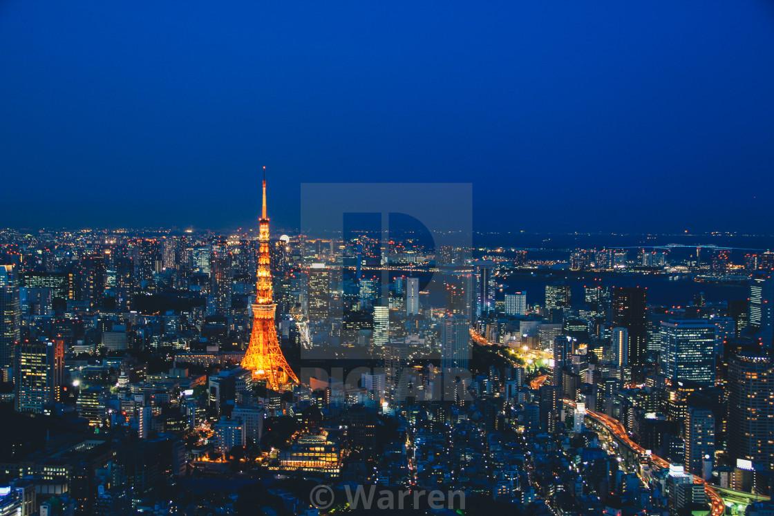 """Tokyo Skyline"" stock image"