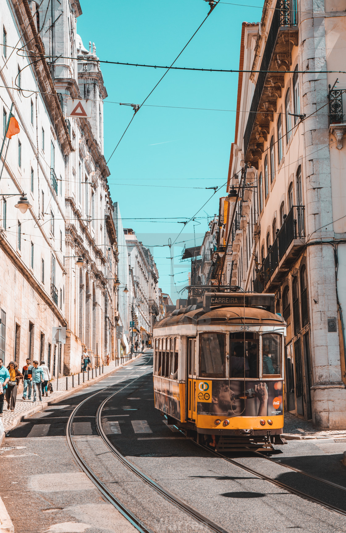 """Trams of Lisbon"" stock image"