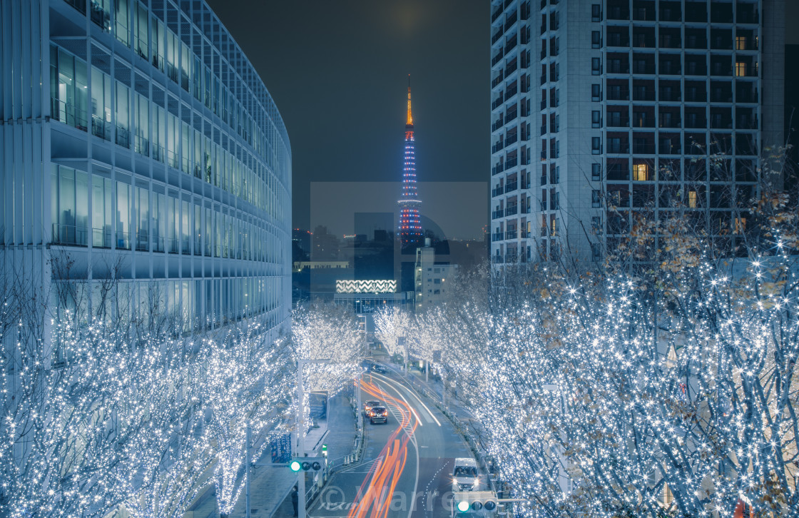 """""""Christmas in Tokyo"""" stock image"""