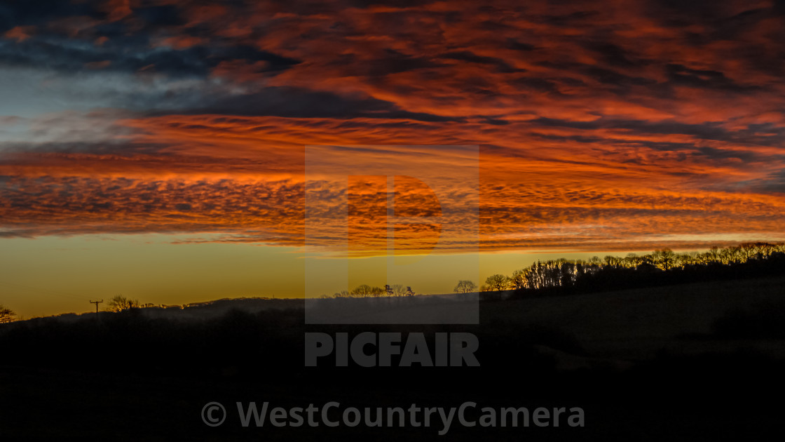 """""""Fire in the Sky II"""" stock image"""