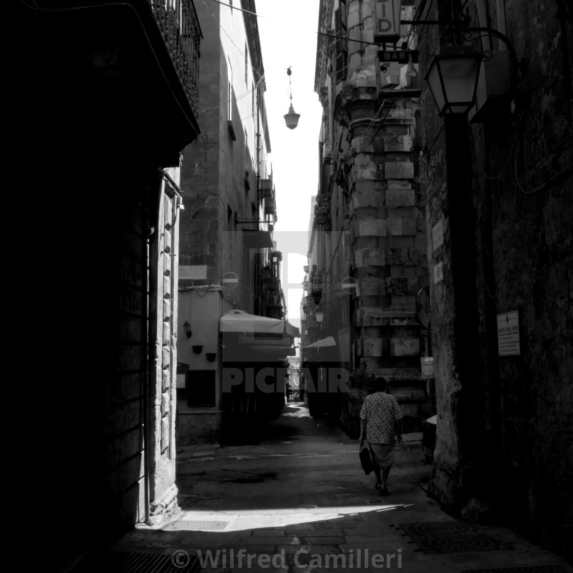 """Streets of Valletta"" stock image"