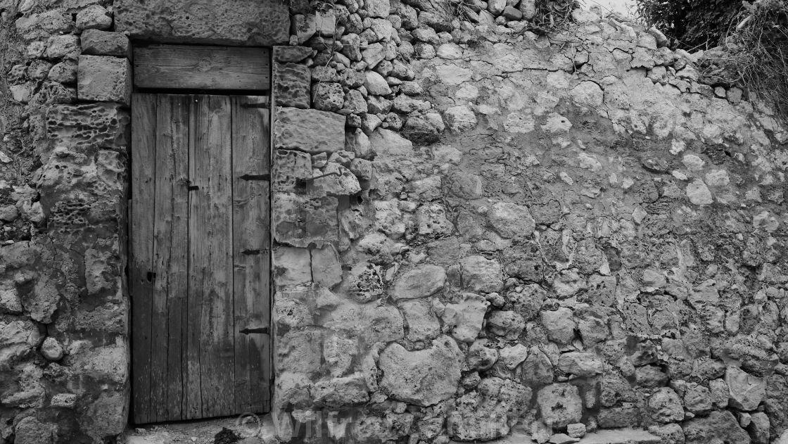 """Rubble wall & Door 3"" stock image"