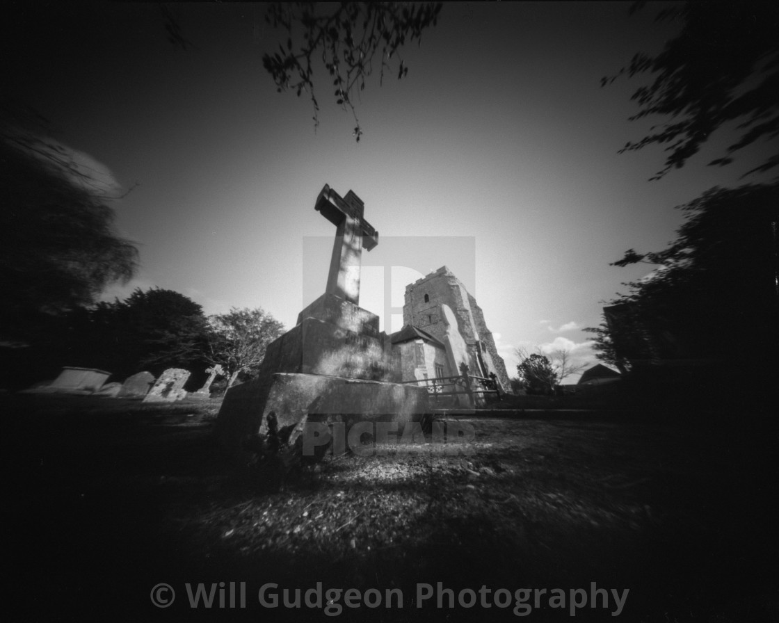 """St Mary's church Westham."" stock image"