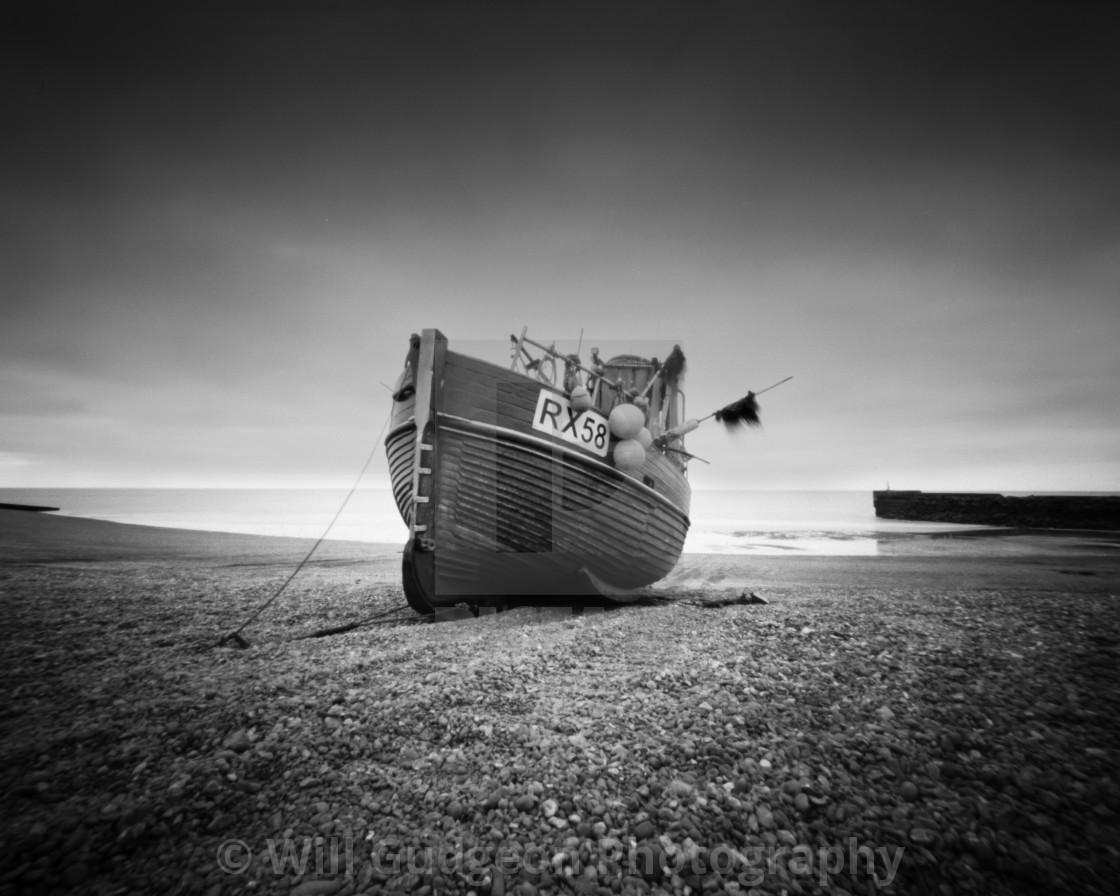"""RX58 Fishing boat - Pinhole photo"" stock image"
