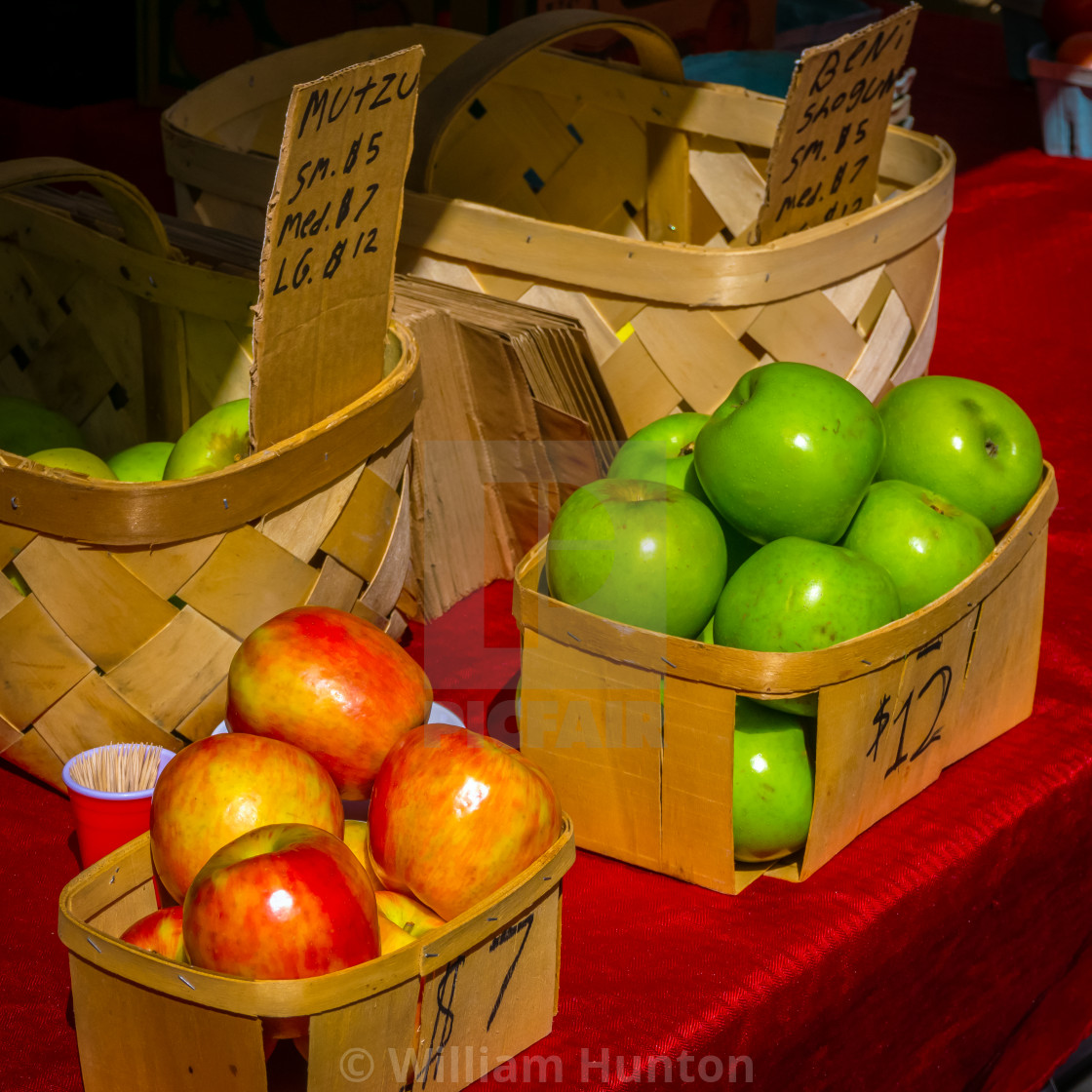 """""""Apples in a Basket"""" stock image"""