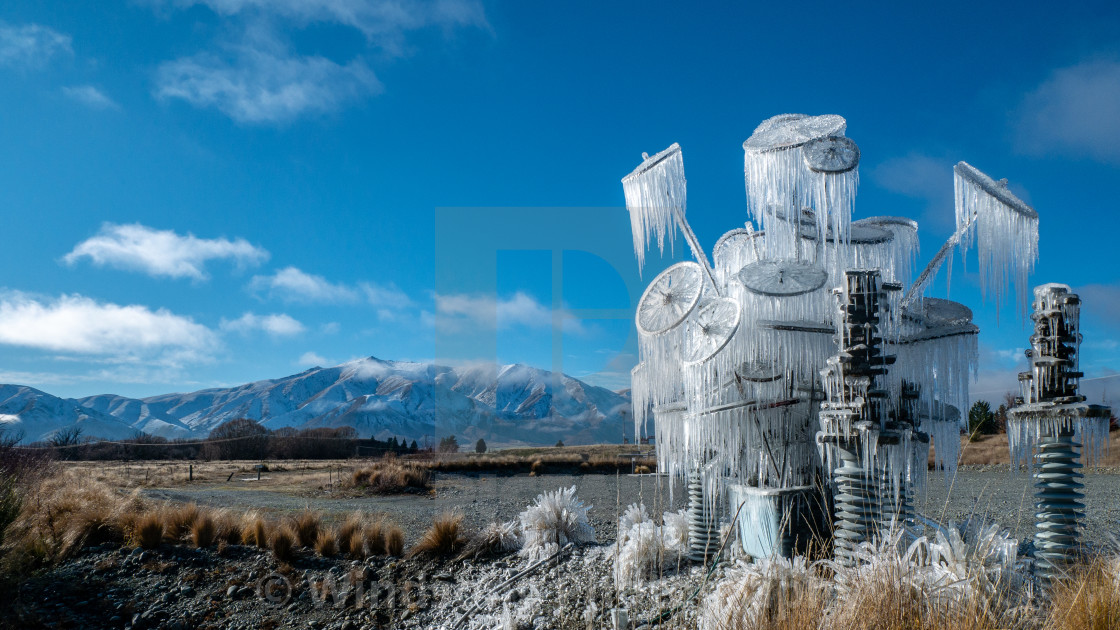 """""""Art with Frost - 1"""" stock image"""