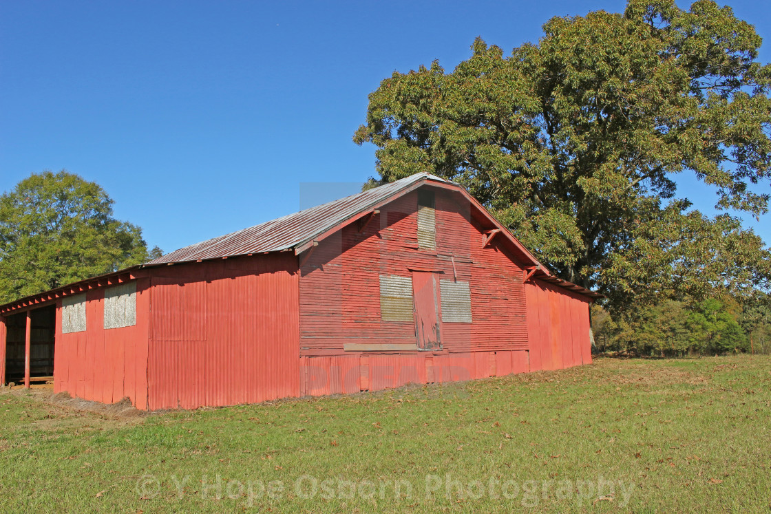 """""""rustic old red barn"""" stock image"""