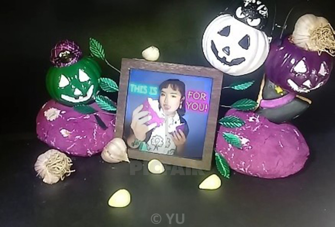 """""""PICTURE FRAME 14 (Halloween Special)"""" stock image"""