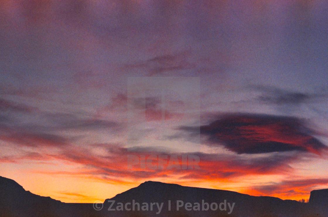 """""""Cody Wyoming Sunset"""" stock image"""