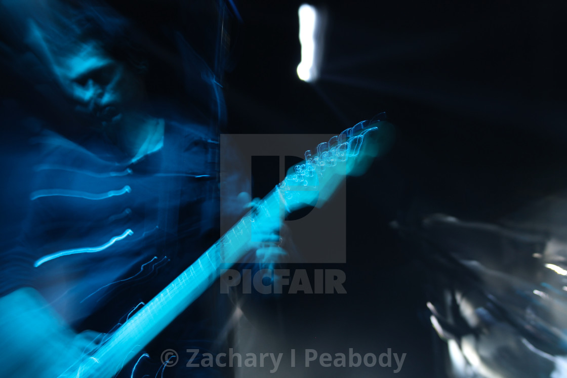 """""""Blurred Guitar Player"""" stock image"""