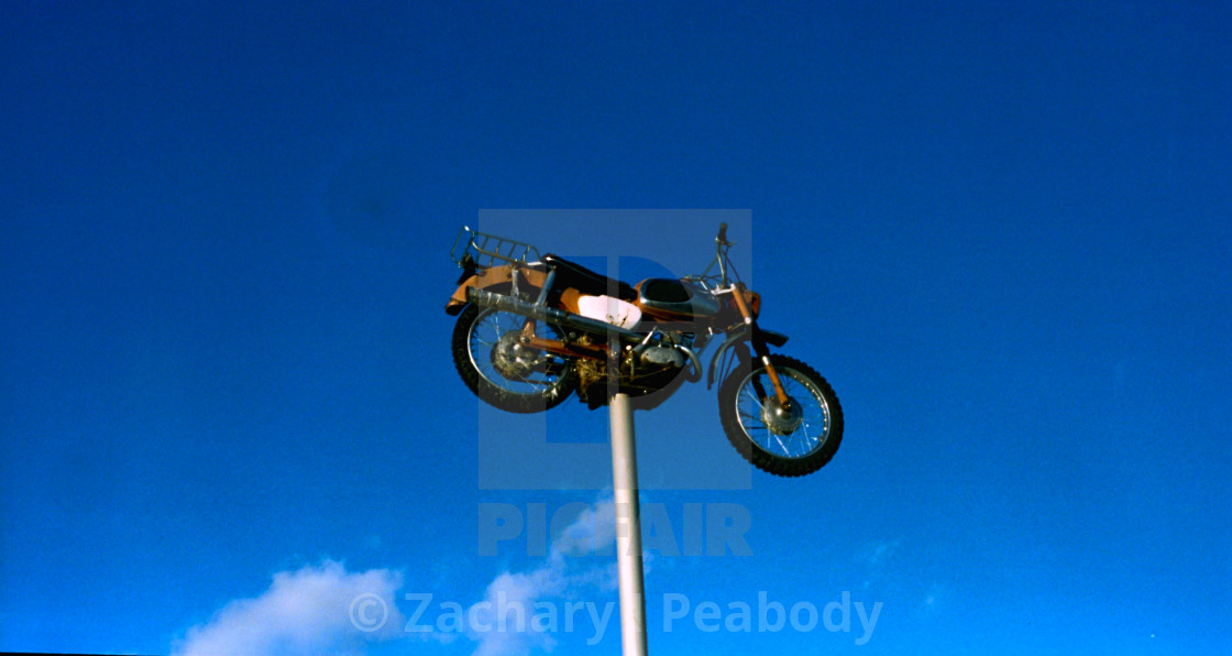 """""""Motorcycle on a stick"""" stock image"""