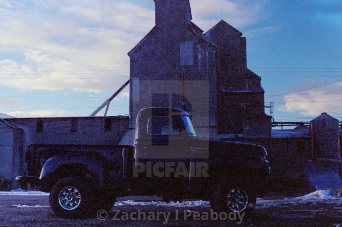 """""""Truck with Plow"""" stock image"""