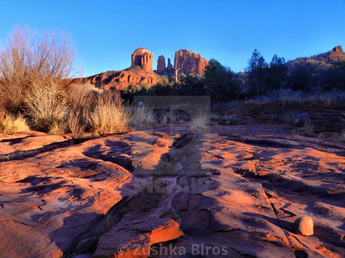 """Cathedral Rock"" stock image"