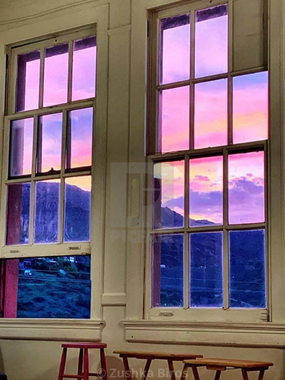 """Sunset Windows"" stock image"