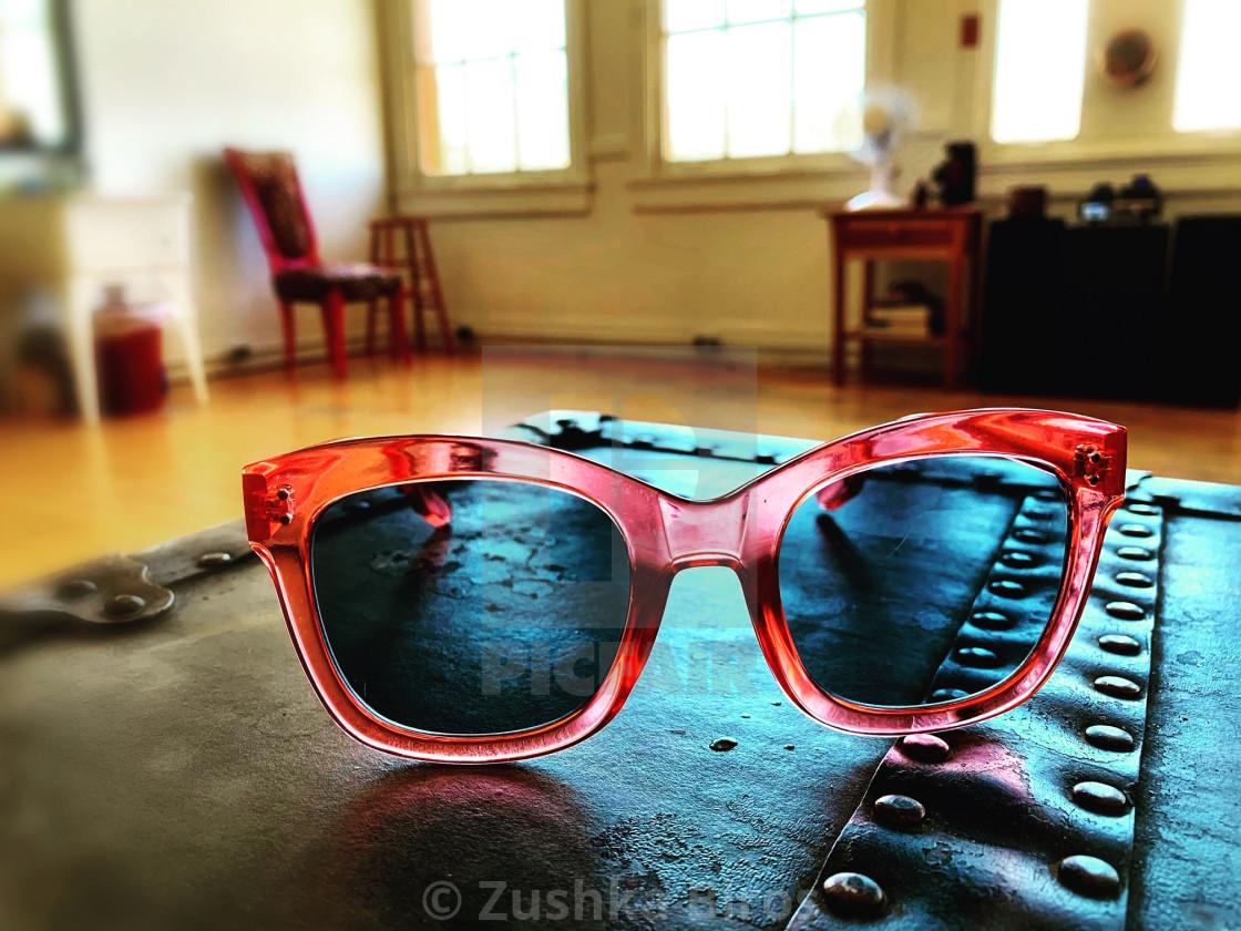"""Pink Sunglasses"" stock image"