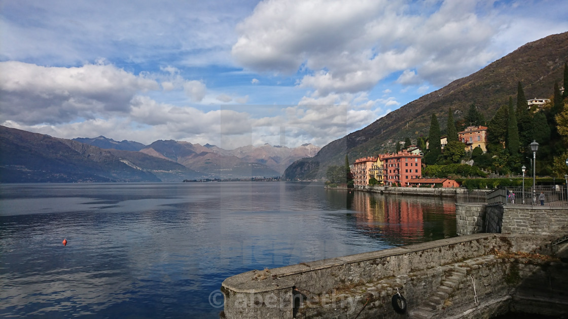 """Lake Como Town"" stock image"
