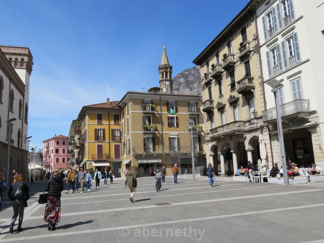 """""""Streets and Plazas of Italy"""" stock image"""