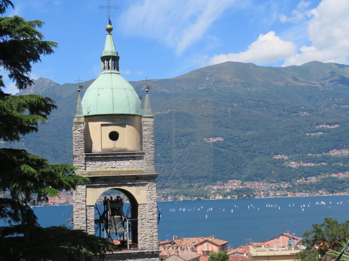 """Lake Como Church"" stock image"