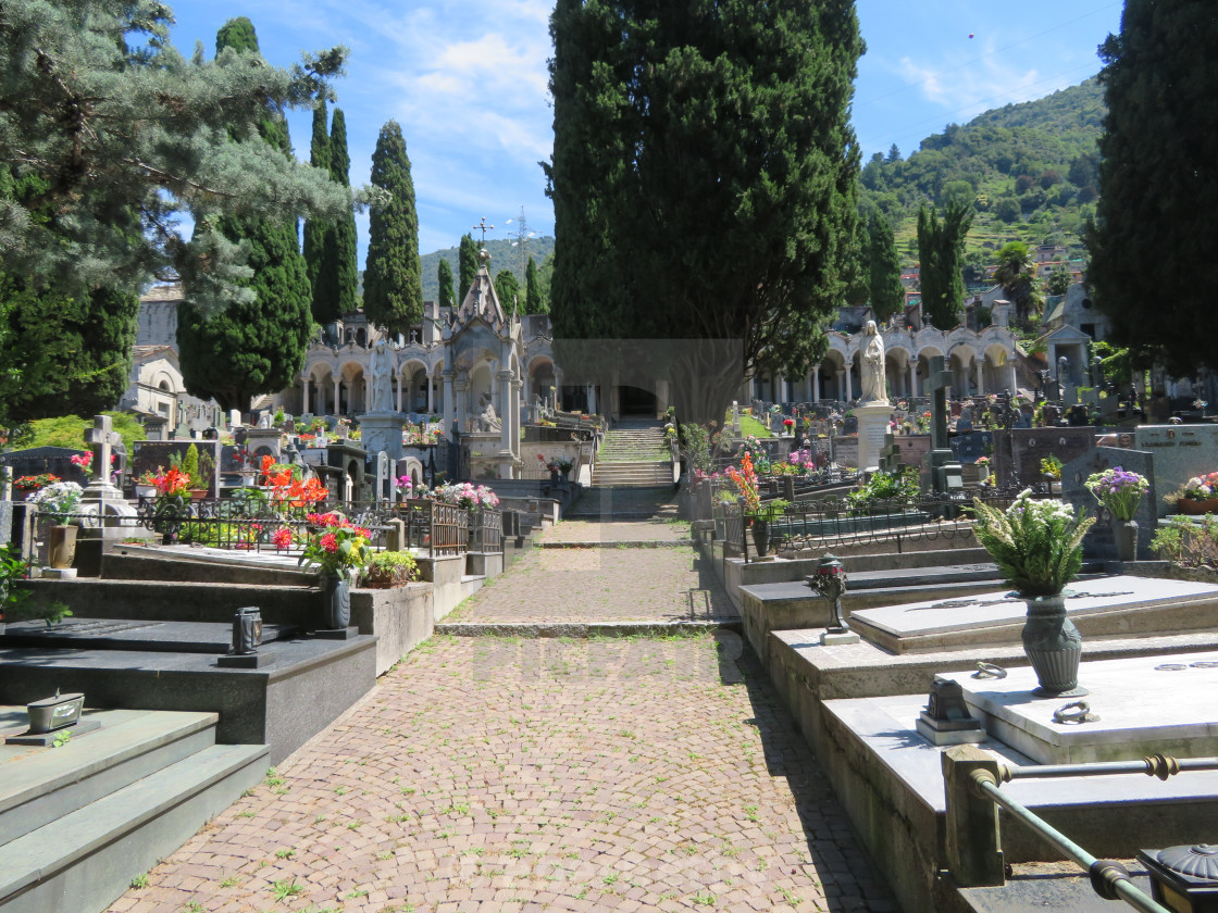 """""""Cemetery in Italy"""" stock image"""