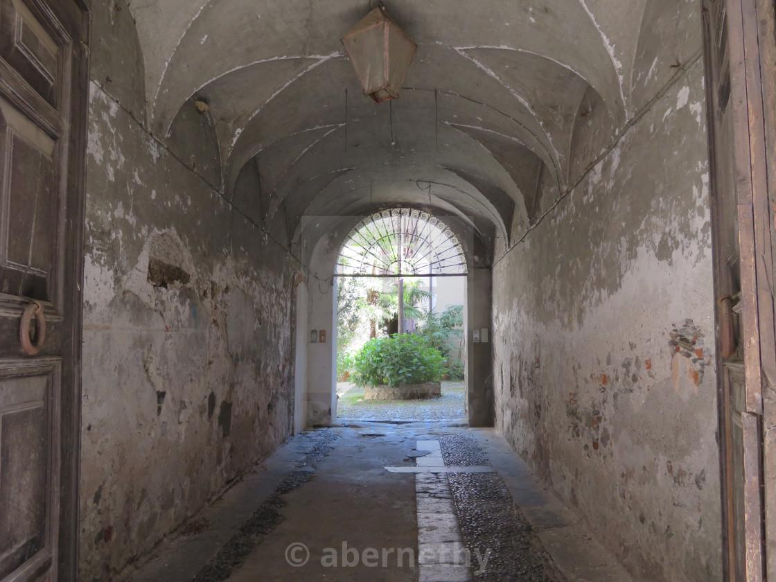 """""""Doorway to courtyard"""" stock image"""