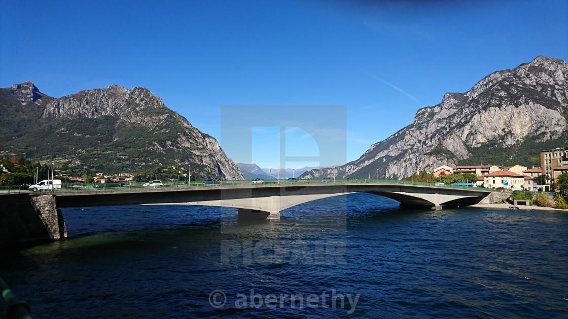 """Kennedy Bridge Lecco Lake Como"" stock image"