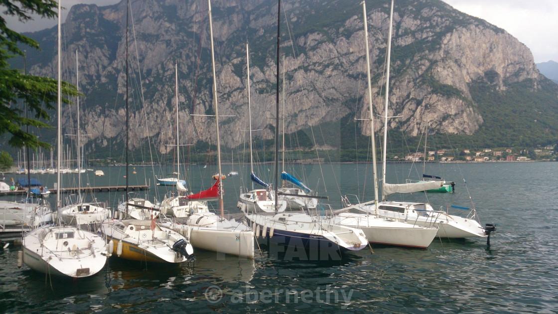 """""""Sail Boats on Lake Como"""" stock image"""