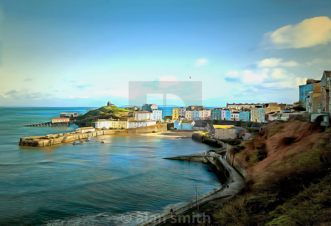 """""""Colourful Harbour"""" stock image"""
