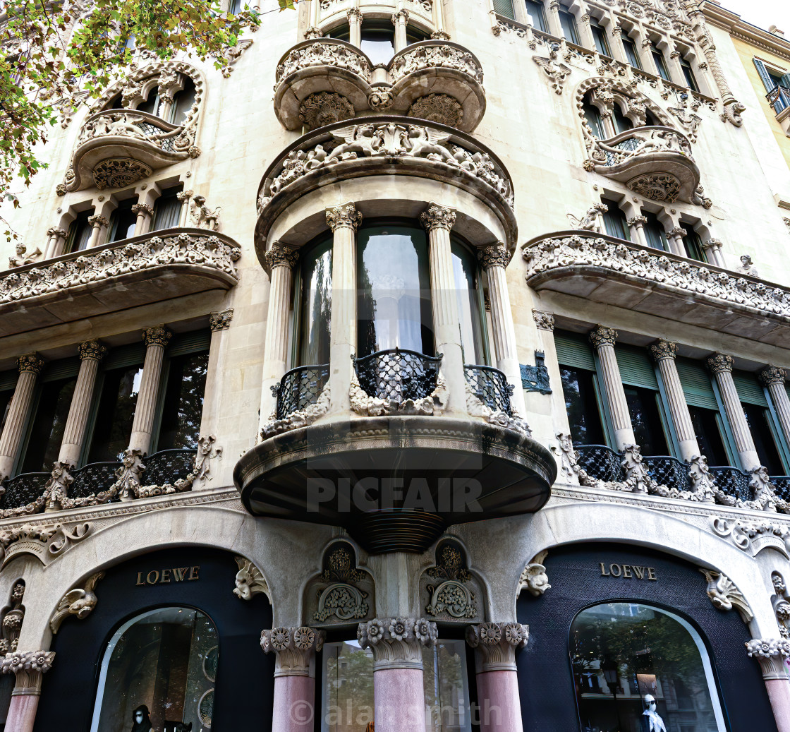 """Barcelona shop front"" stock image"