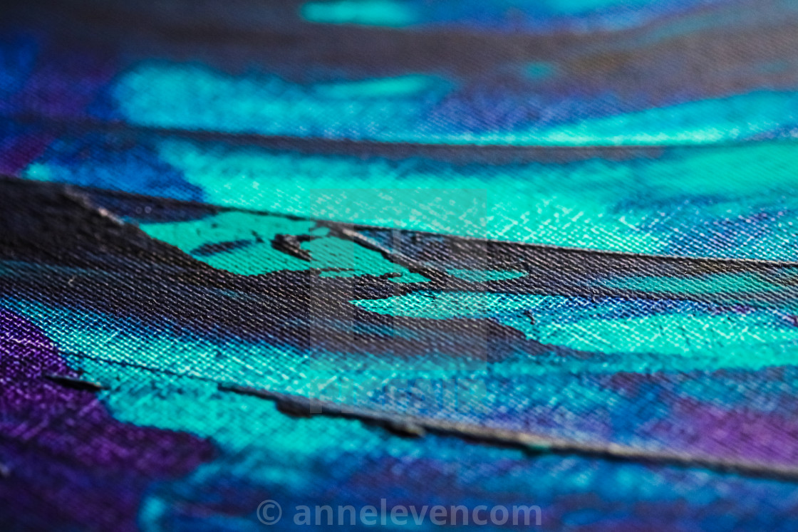"""Mix of blue, turquoise and purple abstract background, painting"" stock image"