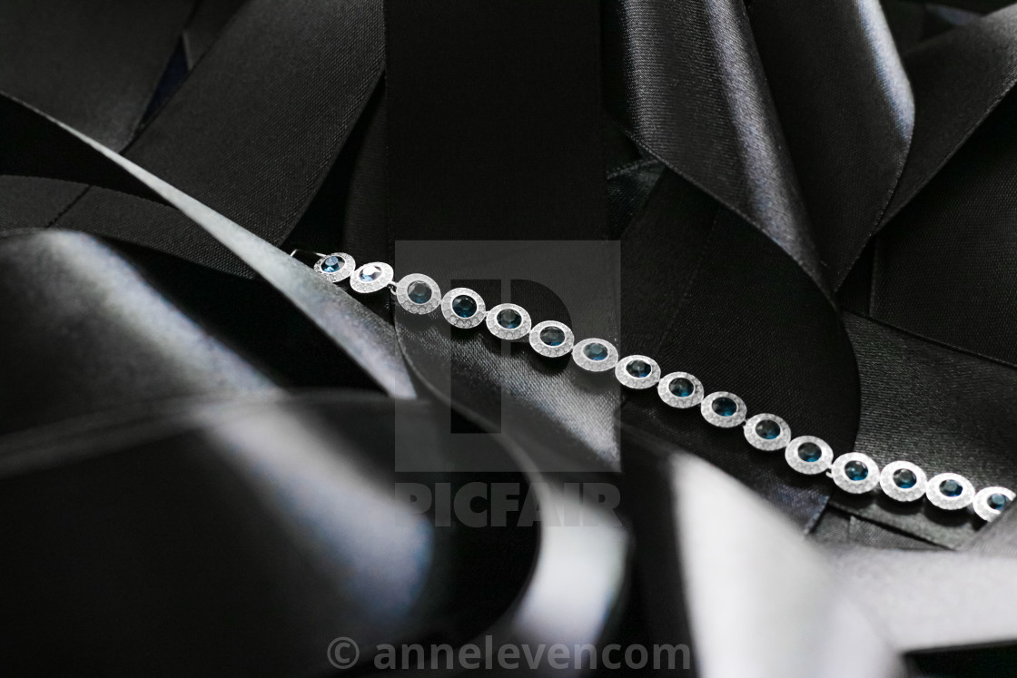 """Luxury diamond bracelet, jewelry and fashion brand"" stock image"