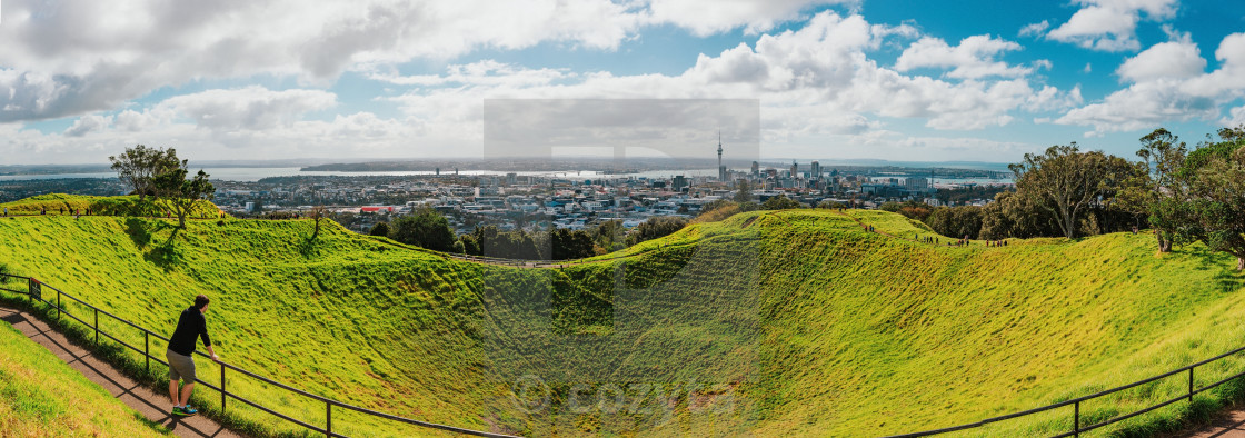 """Auckland city, New Zealand Mt Eden Park"" stock image"