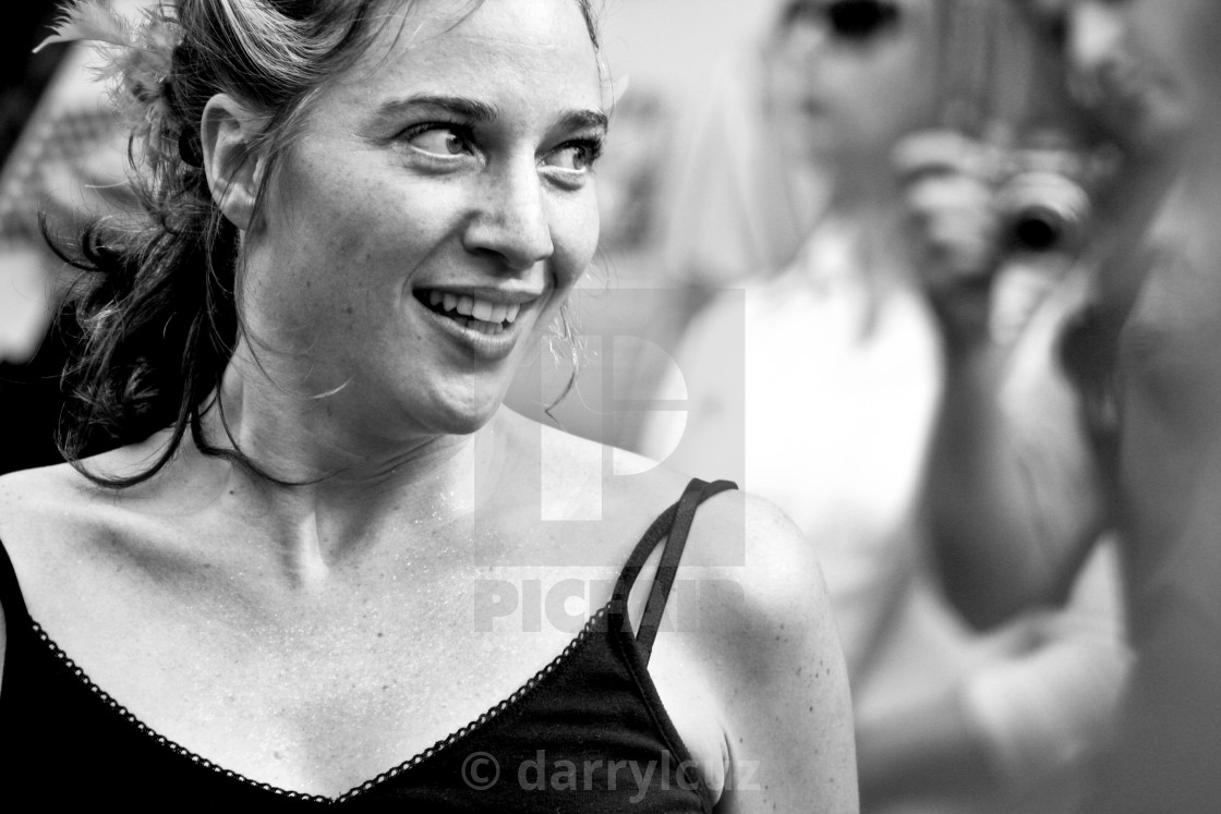 """""""Close up of a dancer at the Brighton Festival, UK."""" stock image"""