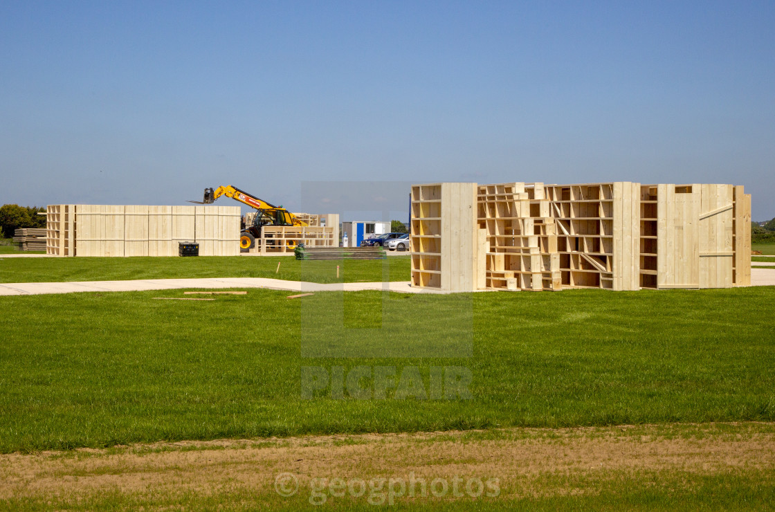 """""""Film set under construction for The Power, Amazon Prime movie, Bawdsey, Suffolk, England, UK - production company, Sister Pictures Power Limited, 29 May 2021"""" stock image"""
