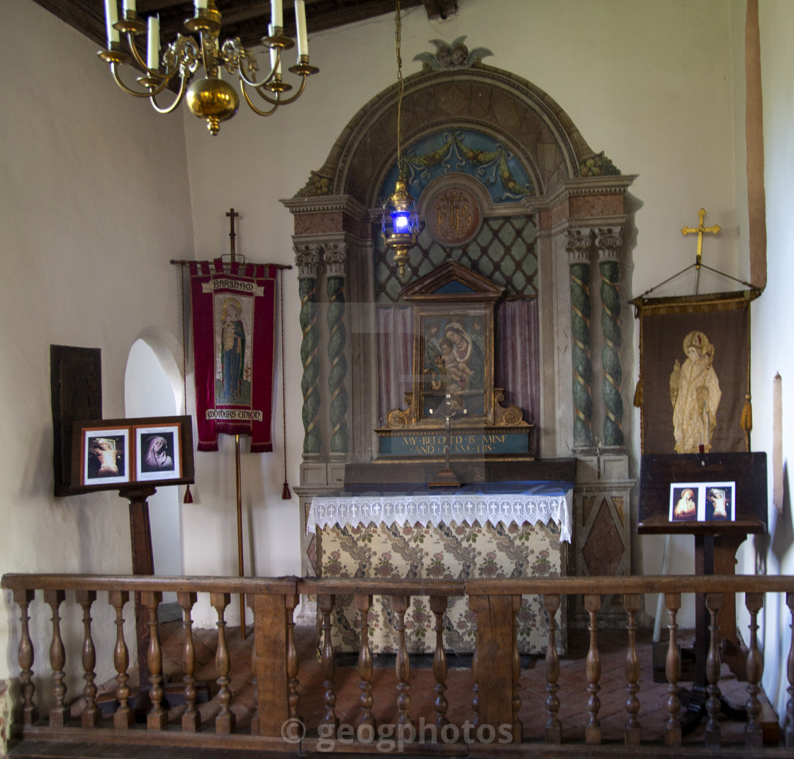 """""""Chantry chapel rebuilt 1908 to commemorate the mother of Horatio Nelson,..."""" stock image"""