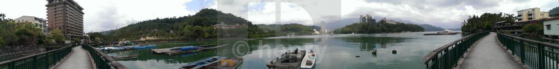 """""""Sun Moon Lake in Taiwan"""" stock image"""