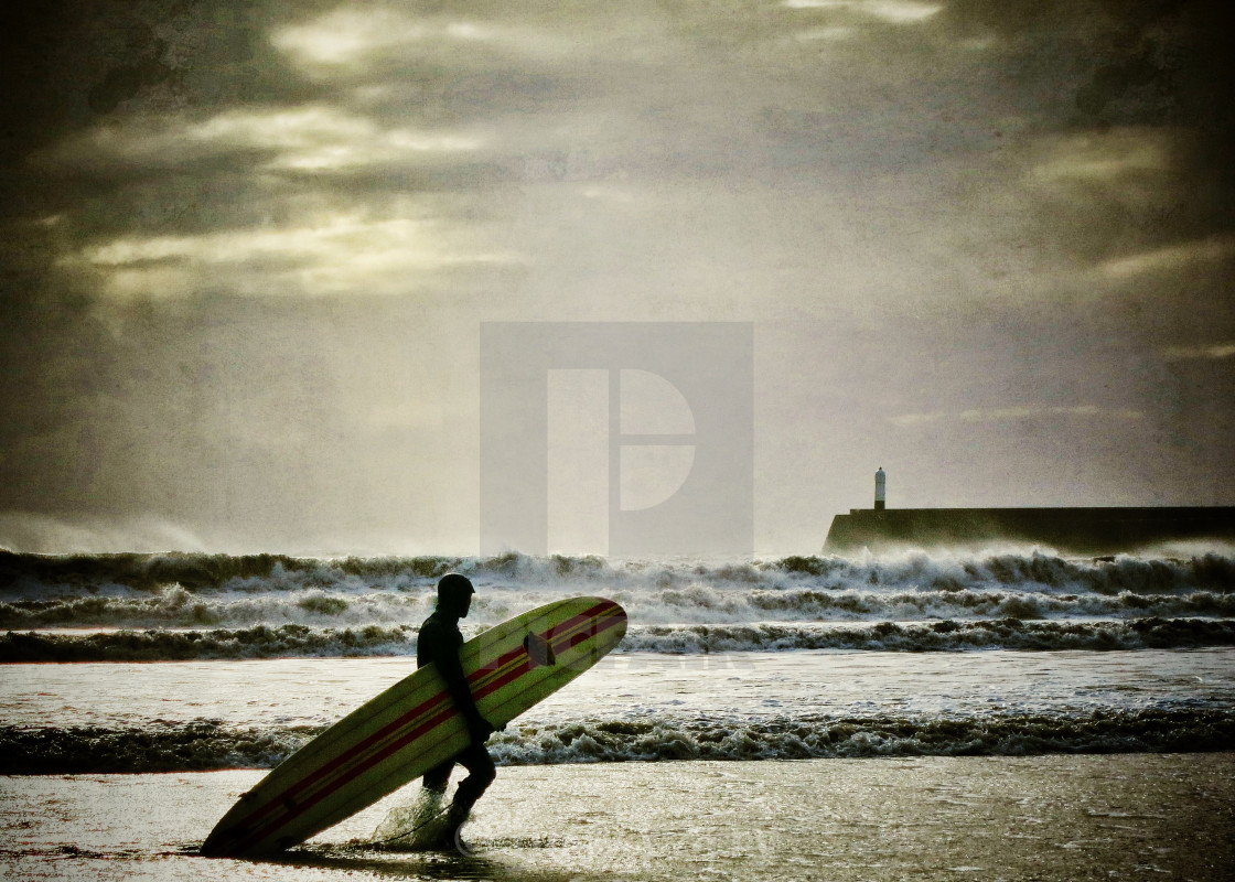 """Winter Surfer"" stock image"