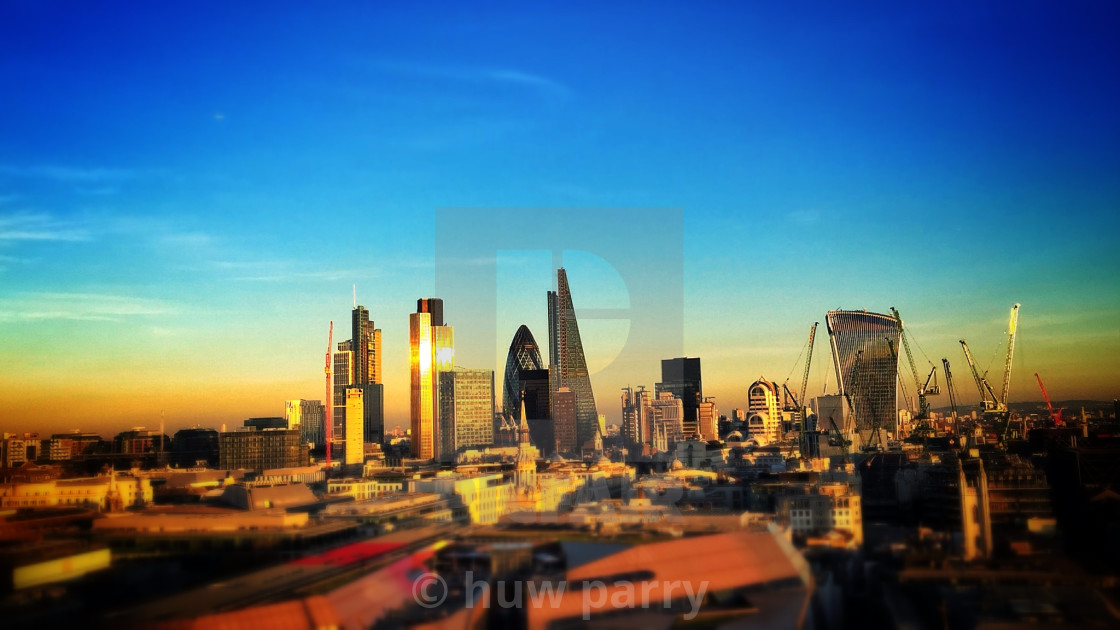 """Sunset City"" stock image"