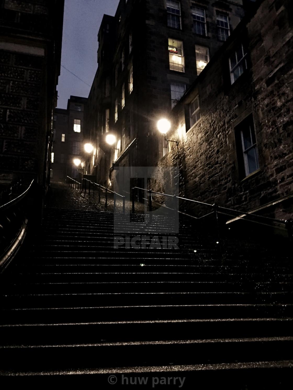 """Edinburgh Old Town"" stock image"
