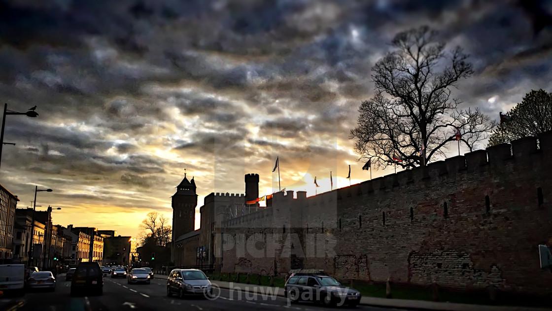 """Cardiff Castle"" stock image"