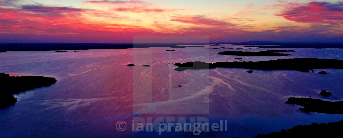 """""""Stunning Image of Lough Ree in ireland"""" stock image"""