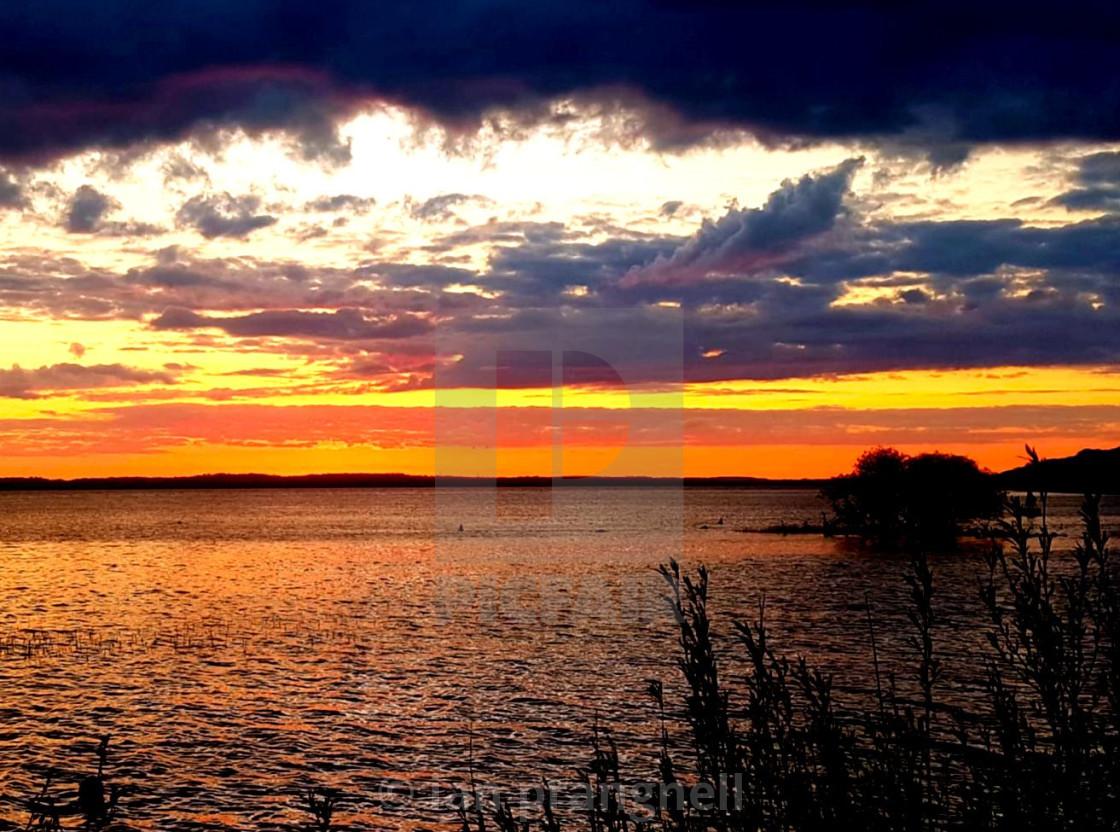 """Coosan Point Athlone Purple skies"" stock image"