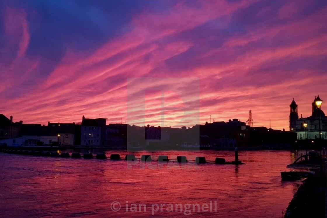 """Purple Skies Athlone Ireland"" stock image"