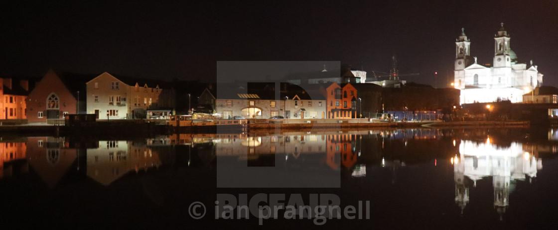 """""""Athlone Shannon Reflections Ireland"""" stock image"""