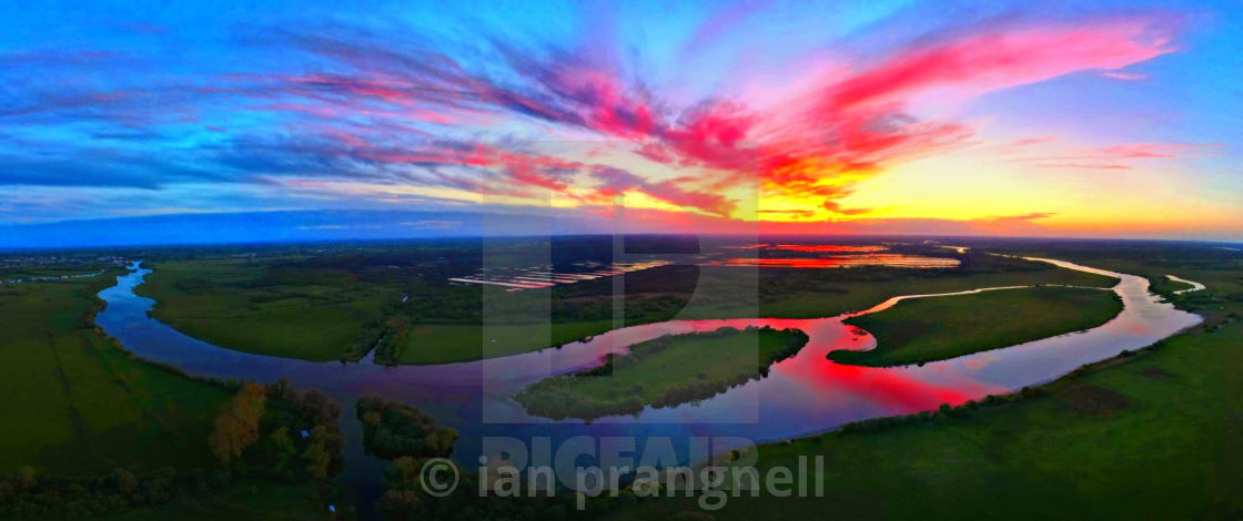 """""""Shannon Harbour Panoramic Co Offaly Ireland"""" stock image"""