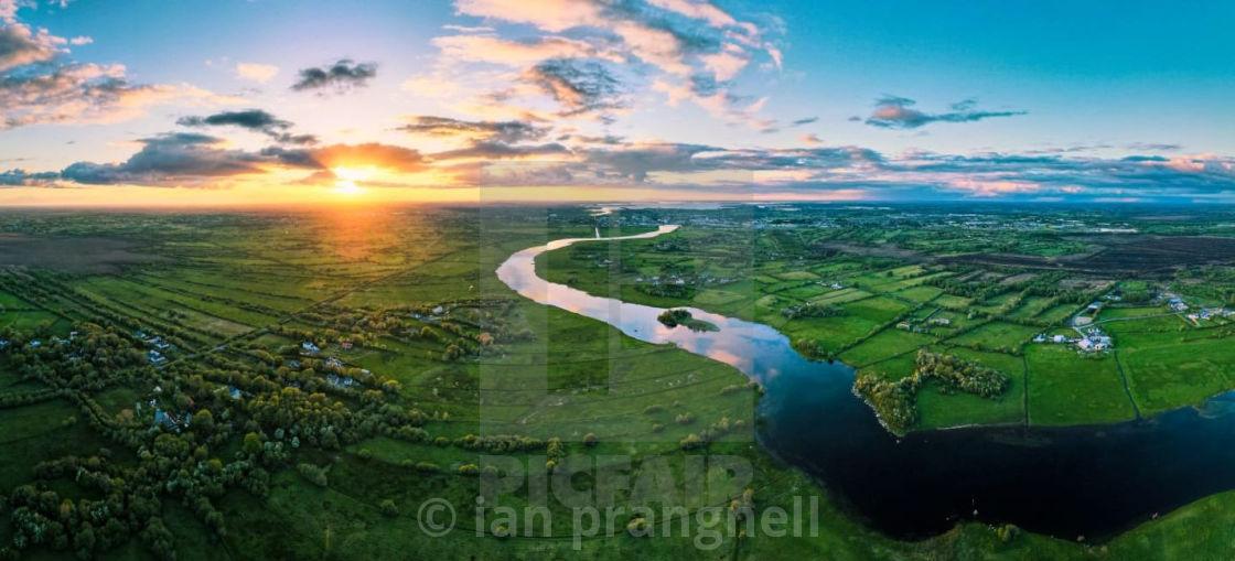 """""""Athlone Sunset Panoramic"""" stock image"""