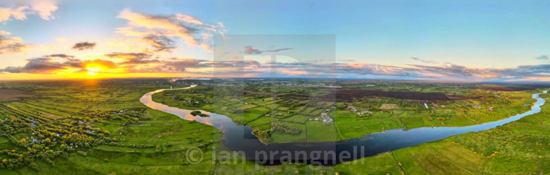 """""""Ireland Panoramic with Sunsets"""" stock image"""