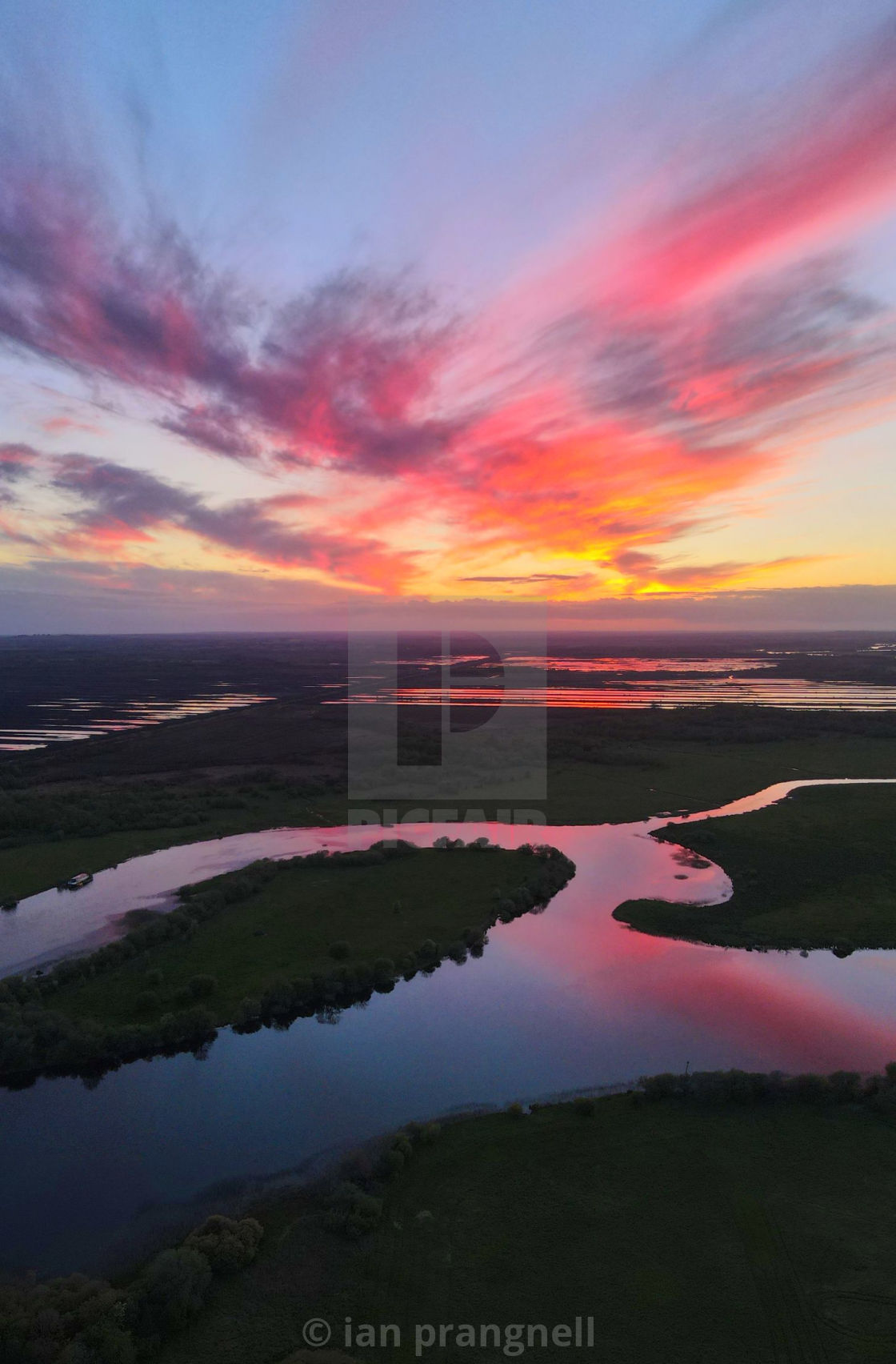 """""""Amazing Purple Sunsets In Co Offaly"""" stock image"""